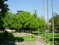 Čurug, park in village center