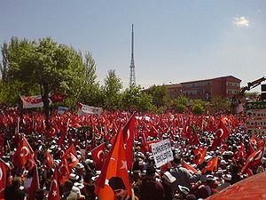 Republic Protests - Demonstrators in Istanbul