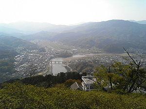 Ōzu, Ehime - Image: Ōzu from atop Tomisuyama