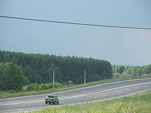 M8 highway (Russia) - M8 close to Rostov, Yaroslavl Oblast.