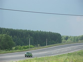 M8 highway (Russia) - M8 close to Rostov, Yaroslavl Oblast.