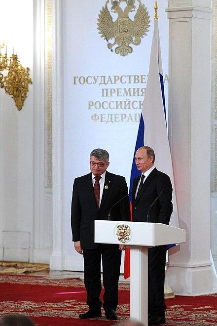Вручение Государственных премий Российской Федерации за 2014 год, 12 июня 2015 года
