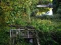 Мостик над водосбросом, Средний пруд и его дамба - bridge over spillway to the Middle pond and its dam - panoramio.jpg