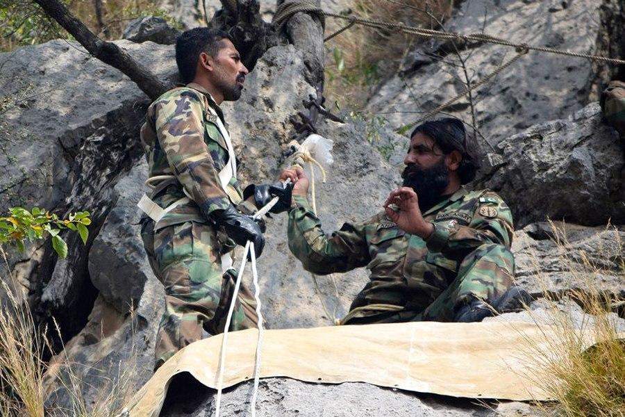 Первая совместная тренировка по горной подготовке в рамках российско-пакистанского тактического учения «Дружба-2016» (1)