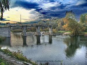 Starobilsk - Image: Плотина Старобельск