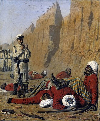 Battle of Geok Tepe - After the Defeat by Vereshchagin