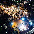 夜間空中俯瞰北港朝天宮與媽祖文化大樓.jpg