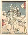 江戸名所四十八景 神田明神-Kanda Temple Snow MET DP123571.jpg