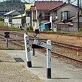 距離標と勾配標 JR和歌山線吉野口駅にて 2012.6.11 - panoramio.jpg
