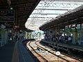 近鉄大和八木駅・大阪線ホームにて Yamato-Yagi station, Kintetsu Ōsaka line 2011.7.17 - panoramio.jpg