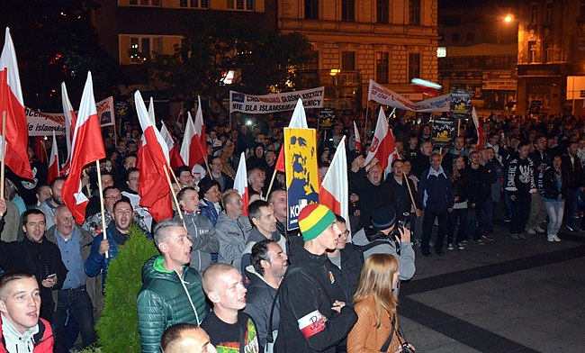 Anti-Islam rally in Poland in 2015 02015-10-02 Der anti-islamische Protest in Polen.JPG