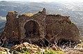 026 Castell de Montsoriu, restes de la torre sud-est des del recinte sobirà.jpg