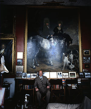 Henry Somerset, 10th Duke of Beaufort - The 10th Duke at Badminton House, by Allan Warren