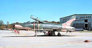 112th Fighter Squadron - 112th Tactical Fighter Squadron - North American F-100F-15-NA Super Sabre 56-3990 about 1975