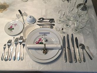 Full course dinner - Image: 12 Course Table Setting