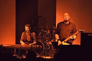 Diorama (band) - Torben Wendt (Piano) and Sash Fiddler (Gitarre) at E-tropolis Festival 2013, Berlin