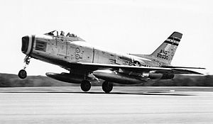 104th Fighter Wing - 131st Tactical Fighter Squadron - North American F-86H Sabre 52-2030