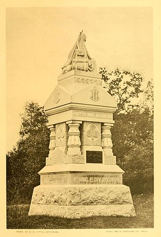 148th Pennsylvania Infantry Regiment - The 148th Pennsylvania's regimental monument in the Wheatfield at Gettysburg National Military Park