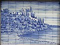 15-05-2017 Monument dedicated to the local Fish Cannery with four tile panels around its base, Ferragudo (4).JPG