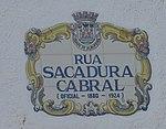 15-09-2017 Street name sign, Rua Sacadura Cabral, Albufeira.JPG