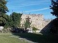 15 Szent Erzsébet Street, cross and city wall, IHS, 2020 Sárospatak.jpg