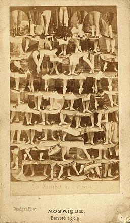 1862 circa, André Adolphe-Eugène Disdéri, Les Jambes de l'opera, Mosaïque, Breveté s.d.g.d., Album of French Actors, Actresses, and Dancers, Getty Images