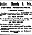 1882 Bushby Macurdy and Fritz photographers advert 13 Temple Place in Boston USA.png