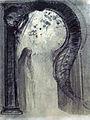 1890 Redon Femme et serpent (Mystère) Kröller-Müller Museum anagoria.JPG