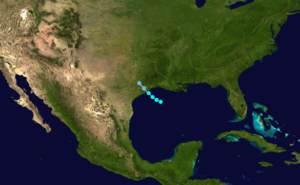 1899 Atlantic hurricane season - Image: 1899 Atlantic tropical storm 1 track