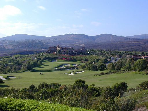 18th tee at The Bridges Golf Club in Rancho Santa Fe, California