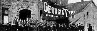 1915 Georgia Tech Yellow Jackets football team - The pennant at the annual banquet.