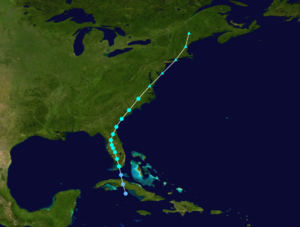 1916 Atlantic hurricane season - Image: 1916 Atlantic tropical storm 1 track
