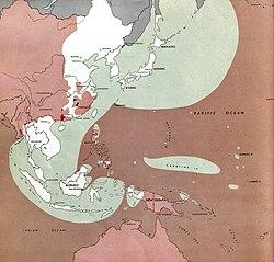 Peta Asia Timur dan Pasifik Barat pada Perang Dunia II