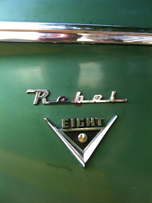AMC V8 engine - 1960 Rebel V8 emblem