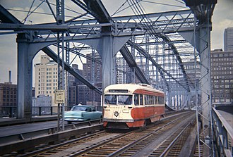 Smithfield Street Bridge - Image: 19660415 12 PAT 1620 on Smithfield St. bridge