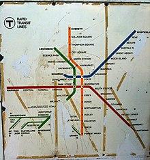 1950s Mbta Elevated Subway Map.Washington Street Elevated Wikivisually