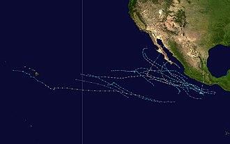 1989 Pacific hurricane season - Image: 1989 Pacific hurricane season summary