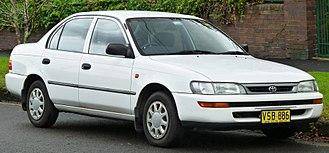 Toyota Corolla (E100) - Image: 1996 1999 Toyota Corolla (AE101R) C Si sedan (2011 06 15) 01