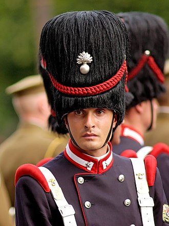 Bearskin - A soldier of the 1st Regiment of Granatieri di Sardegna of the Italian Army