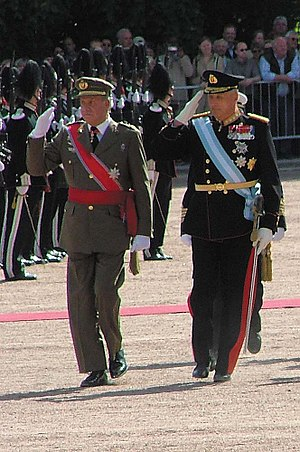 Harald V of Norway - King Juan Carlos I of Spain on visit in Norway (2006)