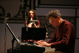 Philip Glass - Glass performing Book of Longing in Milan, September 2008