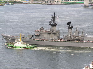 Mack (ship) - Image: 20030727 27 July 2003 DDG 168 Tachikaze Guided Missile Destroyer DDG Tachikaze Class 2 Odaiba Tokyo Japan