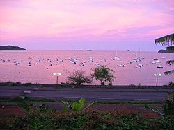 Sunset in Mamoudzou, Mayotte