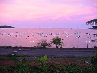 Mayotte - Sea near Mamoudzou.