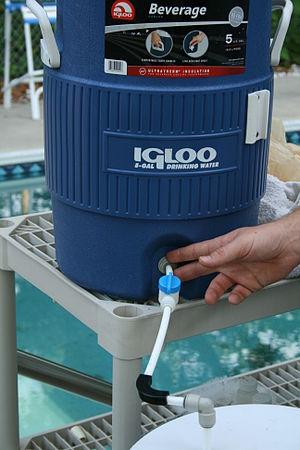 Cooler - Insulated beverage cooler.