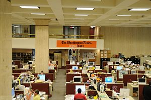 The Washington Times newsroom