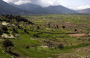 Lasithi Plateau in Lasithi prefecture, Crete