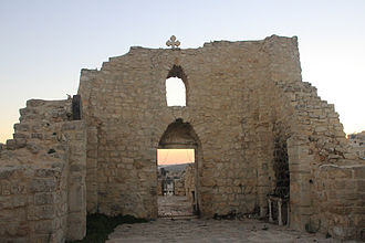 Taybeh - Ruins of the Church of St Georges