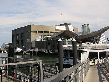 The New England Aquarium, located on the Harbo...