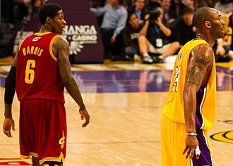 Manny Harris - Harris walks by Lakers' All-Star Kobe Bryant on January 11, 2011